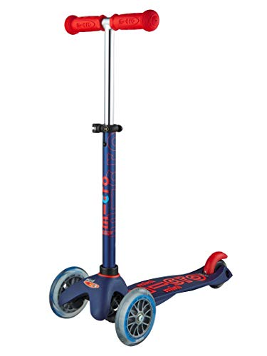 Micro-Mobility - Trottinette Mini 3-en-1 Deluxe Rouge Rubis - Trottinette Enfant Évolutive 3 Roues - Barre de poussée - Repose Pied - Siège en Mousse - Navigation par Transfert de Poids