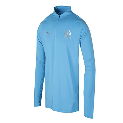 Puma Om 1/4 Zip Top 2018/19, Sweat-Shirt,Bleu,L