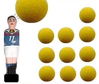 11 balles de baby foot lièges Jaunes PRO