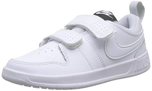 Nike Pico 5 (PSV), Chaussures de Tennis Mixte Enfant, Blanc (White/White/Pure Platinum 100), 31.5 EU