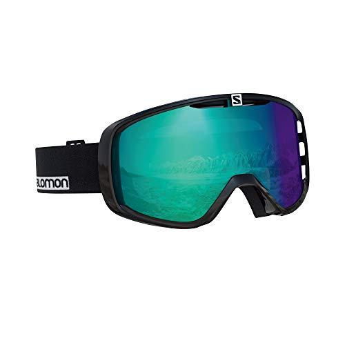 Salomon, Masque de Ski Unisexe, Tous Temps, Écran Bleu Photochromique Multicouche (interchangeable), Système Airflow, X VIEW PHOTO, Noir, L39902600
