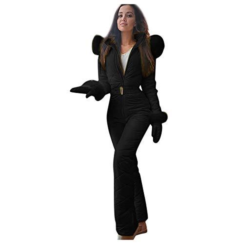 YIHANK Combinaison de Ski Femme Hiver Chaud Combinaison Neige Extérieur Sports Pantalon Sports Suit de Ski