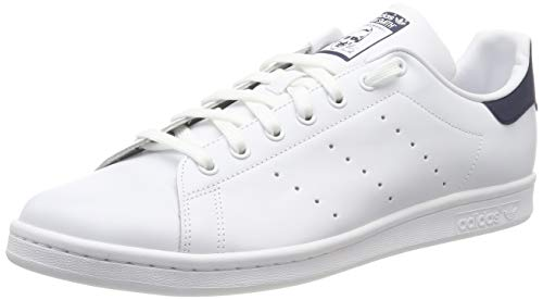 Adidas Originals Stan Smith, Baskets mode mixte adulte,Blanc (STAN SMITH RUNWHI/RUNWHI/NEWNAV) 42 2/3 EU