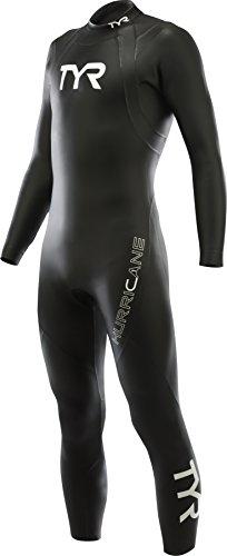 TYR Hurricane C1 Combinaison Triathlon Homme, Noir/Blanc, FR : L (Taille Fabricant : L)