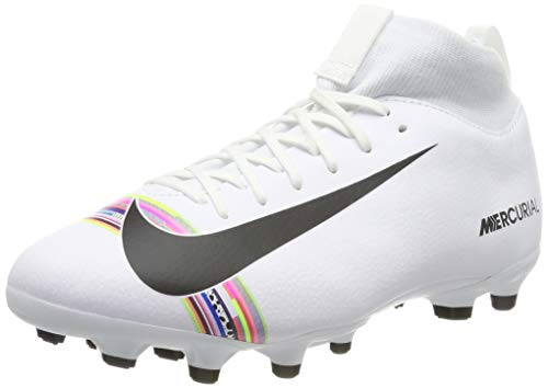 Nike Sperfly 6 Academy GS Cr7 MG, Chaussures de Football Mixte Enfant, Blanc (White/Black-Pure Platinum 109), 36 EU
