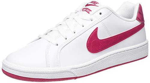 Nike WMNS Court Royale, Chaussures de Tennis Femme, Blanc (White/Wild Cherry/Noble Red 119), 38 1/2 EU