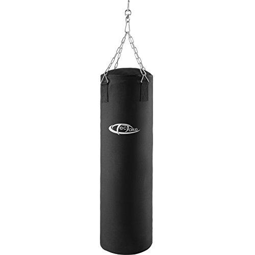 TecTake Sac de boxe sac de frappe rempli 25kg à suspension par chaîne 105cm