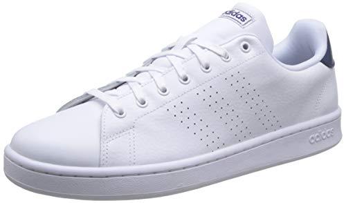 adidas Advantage, Chaussures de Tennis Homme, Multicolore (FTW Bla/FTW Bla/Azuosc 000), 43 1/3 EU