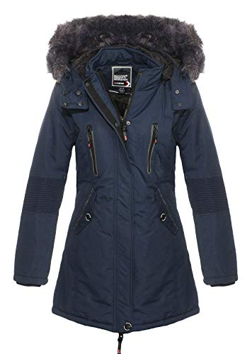 Geographical Norway - Parka Femme Coraly Marine-Taille - 1