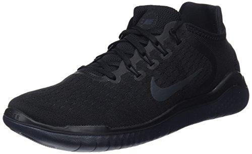 Nike Free RN 2018, Chaussures de Running Homme, Noir (Black/Anthracite 002) 47 EU