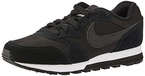 Nike Md Runner 2, Baskets Femme, Noir (Black/Black/White 001)- 39 EU