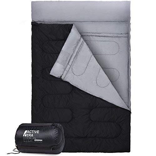 Sac de Couchage Double - Taille XL - Se convertit en 2 lits simples - 3 Saisons, pour le Camping, la Randonnée et les Activités Extérieures