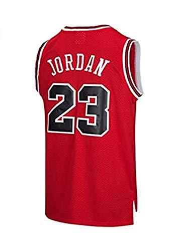 Shelfin Maillot Homme NBA Hommes Michael Jordan # 23 Maillot De Basketball Chicago Bulls Rétro Fitness Débardeur Sports Top M-XXL (Color : Red, Size : M)