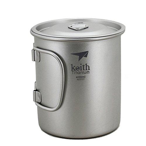 Keith De Plein Air Tasse Titane Tasse Camping Gobelet Outdoor Cup(400ml.Ti3203)