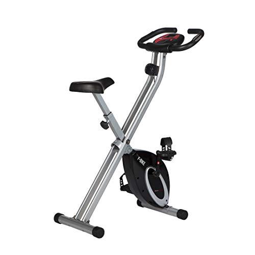 Ultrasport Vélo d'appartement F-Bike , Vélo de fitness pliable avec console et détecteurs manuels de pouls, Mixte adulte, Noir, Taille unique