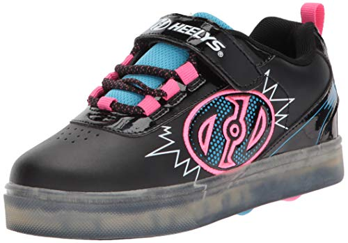 Heelys X2, Chaussures de Fitness Mixte Enfant, Multicolore (Black Blue/Neon Pink 000), 34 EU
