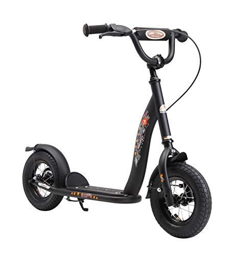 Bikestar Trottinette Enfant 2 Roues pour Garcons et Filles DE 4-6 Ans  Patinette 10 Pouces Classique avec Grande Roues pneumatique  Noir