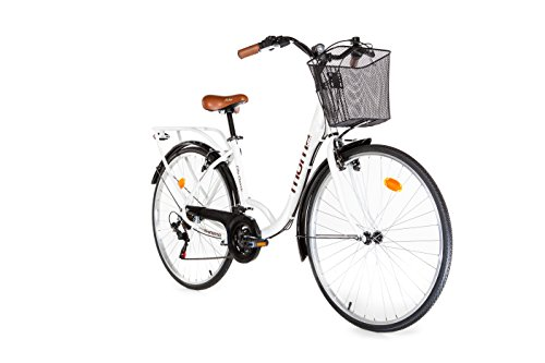 Moma Bikes, Vélo de Ville City Classic 28', Aluminium SHIMANO 18V