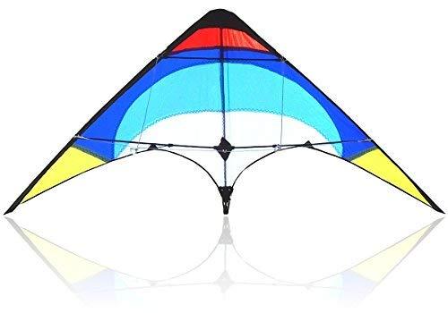 Bee-Kite Easy Stunt - Cerf-volant acrobatique Delta 2 câbles 135x65 cm - Prêt à voler, complet de câbles de 25 m et poignées sangles professionnelles