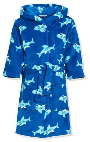 Playshoes Fleece-Bademantel Hai Peignoir, Bleu (Original), (Taille Fabricant: 134 134/140) Garçon