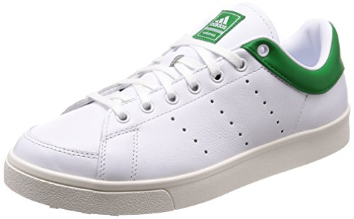 adidas Adicross Classic-Leather, Chaussures de Golf Homme, Blanc (White/Green F33781), 46 EU