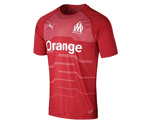 Puma Olympique de Marseille GK Shirt Original SS Maillot Homme, Chili Pepper White, M