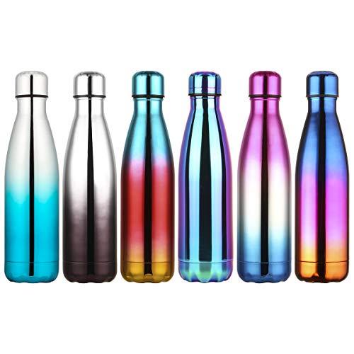 lalafancy 500ml Bouteille d'eau en Acier Inoxydable sans BPA Réutilisable Thermos Double Paroi Isolée sous Vide Gourde Isothermes - Froid 24h ou Chaud 12h