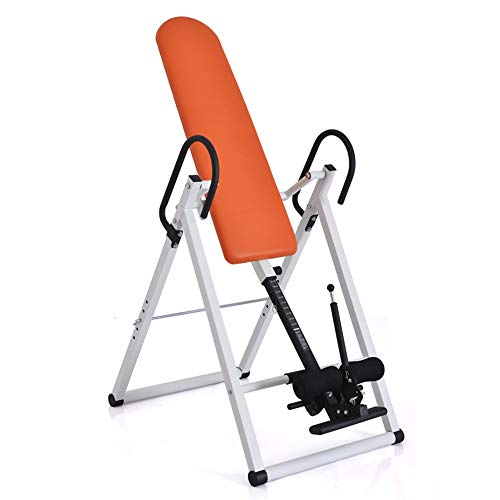 Yocobo Machine inversée Table Comfort Nversion avec Support Dorsal Ultra-épais Table d'inversion pour l'entraînement du Dos (Couleur : Orange, Taille : 113 * 64 * 146cm)