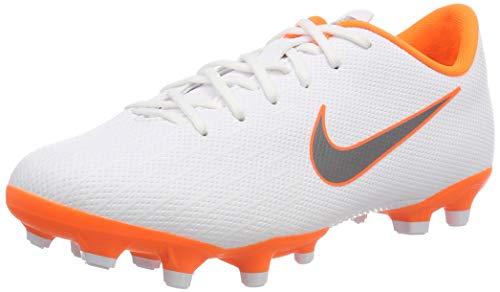 Nike Mercurial Vapor XII Academy MG Junior, Chaussures de Football Mixte Enfant, Blanc (White/Chrome-Total O 107), 38.5 EU