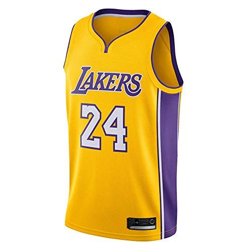 GRYUEN NBA Lakers 24# Kobe Bryant Jerseys, Maillot de Basket-Ball, Maillots,Maillot de Supporters, Gilet Respirant à séchage Rapide,Homme Femme