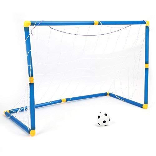 Yosoo Kit de Football pour Enfants Entraînement Goal Ballon de Football avec Pompe Ensemble 90 * 60 * 47cm Jouet Sport Cadeau Fils