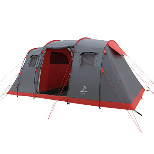 JUSTCAMP Lake 4 Tente de Camping 4 Personnes (470 x 230 x 190 cm)