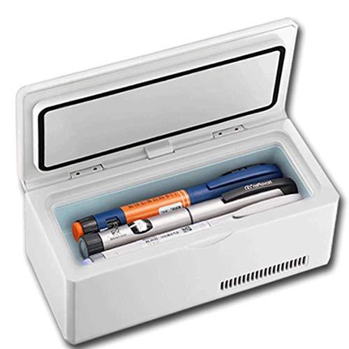 L'insuline Boîte,Grande Capacité Portable BoîTe RéFrigéRéE Insuline,éCran LCD Rechargeable 2-8 ° C Voiture InterféRon Refroidisseur MéDical Mini-RéFrigéRateur Voyage/Camping