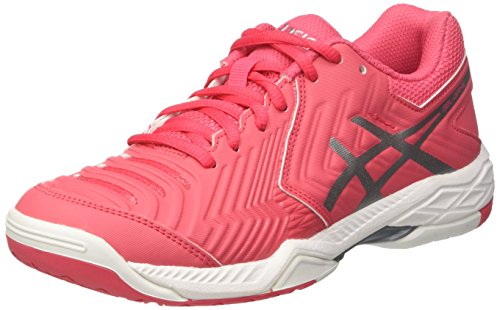 Asics Gel-Game 6, Chaussures de Tennis Femme, Rouge (Rouge Red / Silver / White), 39 EU