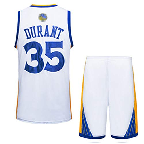 Rying Homme Basket Maillots Curry#30 Durant#35 Thompson#11 Green#23 Iguodala#9 Golden State Warriors Basketball Fans Broderie Jersey T-Shirt et Short Sportwear Ensemble pour Teenager Adulte