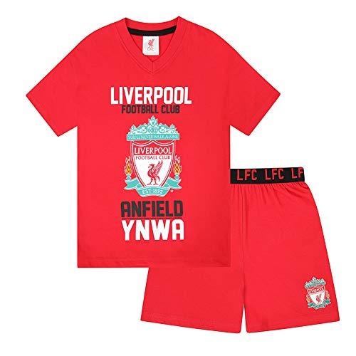 Liverpool FC officiel - Ensemble de pyjama court thème football - garçon - Rouge - 12-13 ans
