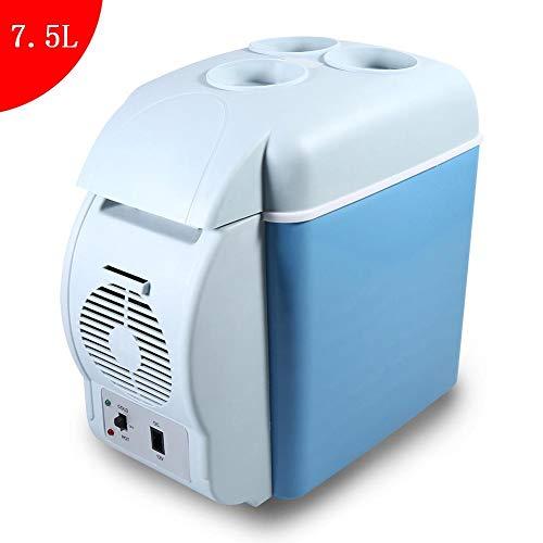 Portable 7.5L Mini Réfrigérateur de Voiture, Pratique 12V Camping Réfrigérateur Caisse plus Frais avec Sangle, Camping Réfrigérateur pour Voiture Maison, Bureau, Hôtel ou Dortoir, 31 x 16.5 x 30 cm