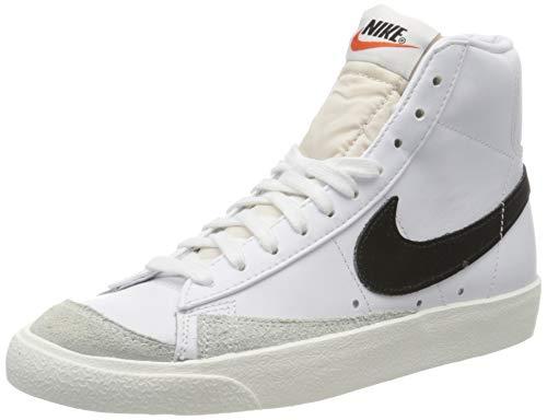 Nike Blazer Mid '77 VNTG, Chaussures de Basketball Homme, Blanc (White/Black 000), 40 EU