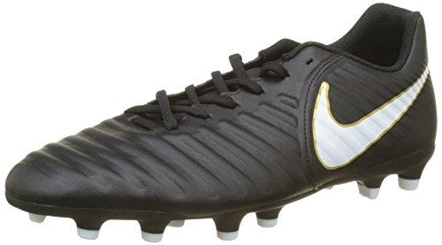 Nike Tiempo Rio IV (FG), Chaussures de Football Homme, Noir White-Black 002, 42 EU
