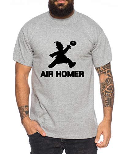 Air Homer T-Shirt pour Homme Cool Fun Shirt, Farbe2:Gris Chiné, Größe2:Small