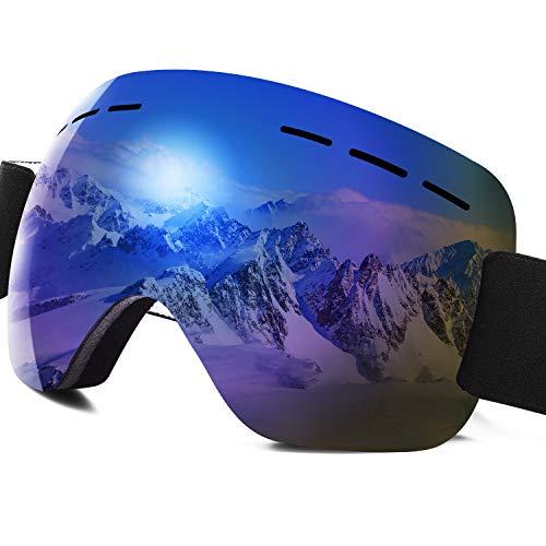 PHYLES Lunettes de Ski, Masques Snowboard pour Adultes et Enfants - Protection UVA 100%