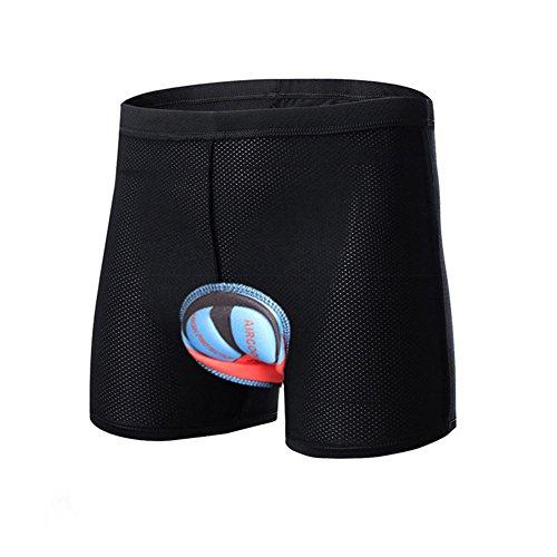 Sous-vêtements de Cyclisme, ANGTUO Unisexe Rembourré 3D Gel de Silice Sous-vêtement de Coussin de Vélo Anti-choc Slip de Vélo pour Hommes et Femmes
