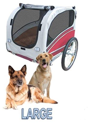 Polironeshop Snoopy - Remorque de vélo pour transporter chien, animal, etc. Large rouge