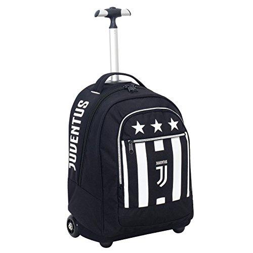 Big Trolley Juventus , Blanc & Noir- 30 Lt , 2in1 Sac à dos à roulettes , École & Voyage