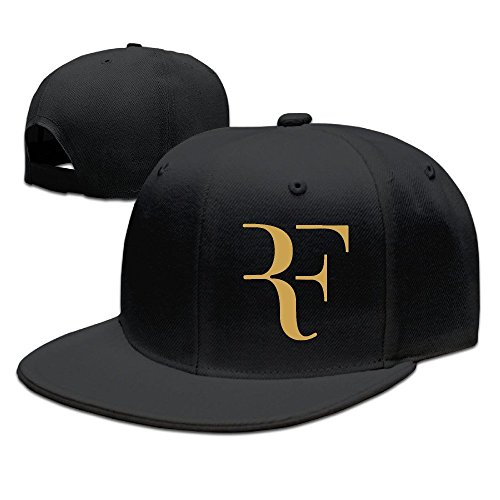 Yhsuk Roger Federer Logo Unisex Fashion Cool Adjustable Snapback Baseball Cap Hat One Size Black