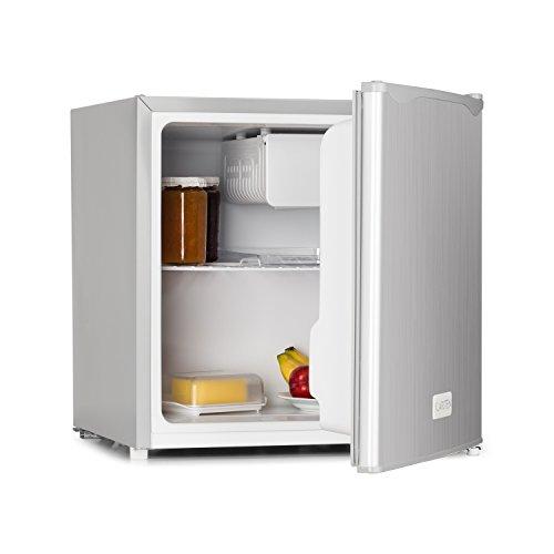 Klarstein 50L1-SG • Minibar • Mini-réfrigérateur • Réfrigérateur à Boissons • A+ • 40 litres • env. 47x49,5x44,4 cm (LxHxP) • Fonctionnement Silencieux • 1 étagère • Température réglable • Argent