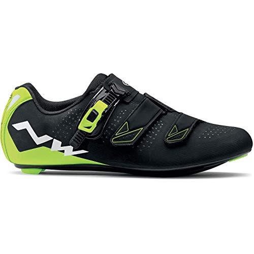 NORTHWAVE Chaussures velo route homme PHANTOM 2 SRS noir/jaune fluorescent