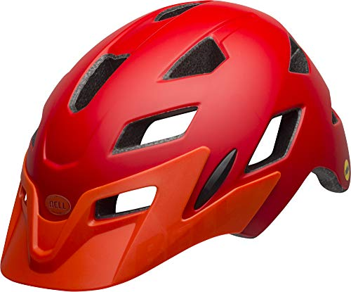 BELL Sidetrack Jeunes Casque à vélo Unisex-Youth, Matte Red/Orange, Unisize 50-57cm