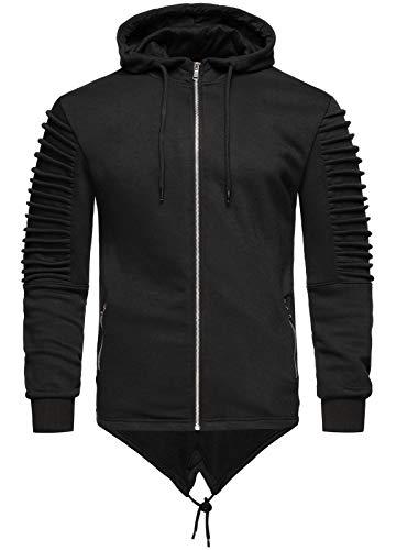 Rock Creek - Sweat-Shirt à Capuche - Cardigan - Manches Longues - Homme - Noir - XXX-Large