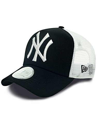 New Era MLB Trucker NY Yankees Black Casquette Homme, Noir, FR Fabricant : Taille Unique